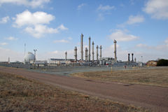 Natural gas storage and transfer facility Stock Images