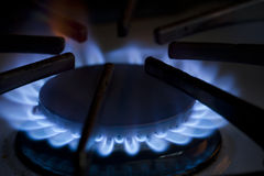 Natural gas stove Royalty Free Stock Photography
