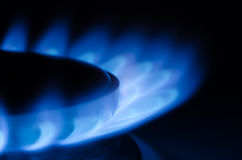 Natural Gas. On the stove royalty free stock photos