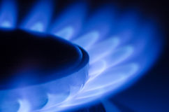 Natural Gas. On the stove royalty free stock images