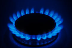 Natural Gas. On the stove stock image