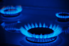 Natural Gas. On the stove royalty free stock photography