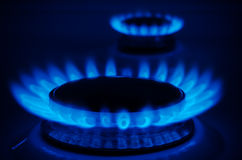 Natural Gas. On the stove royalty free stock photo