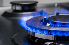 Natural Gas. In the stove royalty free stock photography