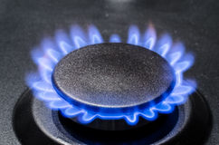 Natural Gas. In the stove royalty free stock image