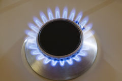 Natural gas stove burner Royalty Free Stock Images