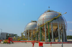 Natural Gas Tank. In chemical plant Stock Photography