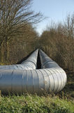 Natural gas transportion pipe Royalty Free Stock Photos