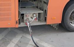 Natural gas vehicle filling Stock Photos