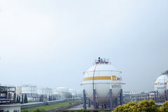 Natural gas warehouse Stock Images