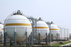 Natural gas warehouse. Oil and or Natural gas warehouse royalty free stock photography