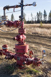 A natural gas wellhead Royalty Free Stock Photography