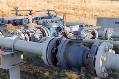 A natural gas wellhead Royalty Free Stock Photos