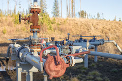A natural gas wellhead Royalty Free Stock Image