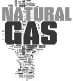 Natural Gas word cloud Stock Photos