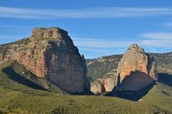 Natural gateway Salto de Roldan in Aragon Stock Photos