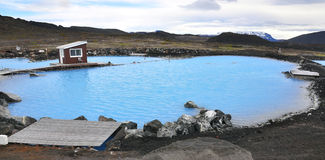 Natural geothermal lagoon Stock Photos