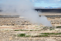 Natural geothermal vent in Northern Nevada Royalty Free Stock Image