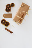 Natural gifts wrapping Stock Image