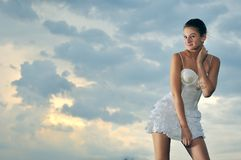 Natural girl royalty free stock images