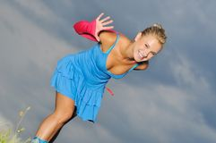 Natural girl Stock Image