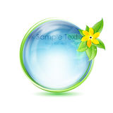 Natural globe with flower Royalty Free Stock Image