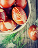 Natural Grass in Easter Decor Royalty Free Stock Photo