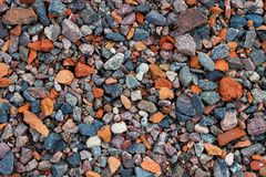 Natural gravel texture Royalty Free Stock Photo