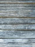 Natural gray barn wood wall. Weathered, horizontal planks Royalty Free Stock Photography