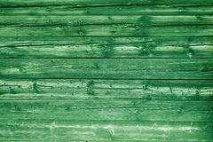 Natural green colored pine wood panels as background Stock Photography