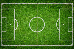 Natural green grass soccer field Royalty Free Stock Photos