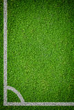 Natural green grass soccer field Royalty Free Stock Images