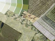 Natural green interior decoration plan Royalty Free Stock Photo