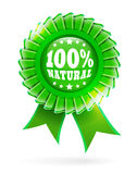 Natural green label 100%. 100% natural green label illustration Stock Photo