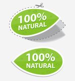 Natural green labels Royalty Free Stock Image
