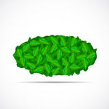 Natural Green Leaves Background. Vector Royalty Free Stock Photos