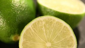 Natural green organic lime, color inspiration for creativity, restoring energy. Stock footage stock video footage