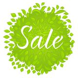 Natural green sales badge Stock Images