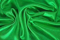 Natural green satin fabric texture background Royalty Free Stock Images