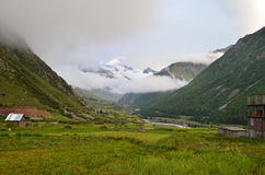 Natural Green Scenery background in Himachal Pradesh, India Royalty Free Stock Images