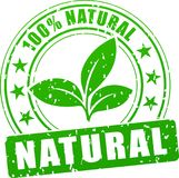 Natural green stamp. Illustration of natural stamp on white background Royalty Free Stock Photo