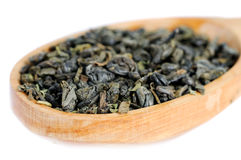 Natural green tea leaves Royalty Free Stock Image