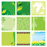 Natural green vector backgrounds Stock Photo