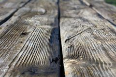 Natural grey aged wooden boards texture closeup Royalty Free Stock Image