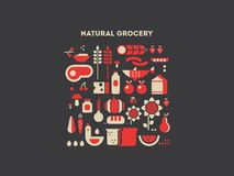 Natural grocery food Royalty Free Stock Photo