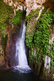 Natural grot with  waterfall. Provincia de Jaen, Spain Royalty Free Stock Image