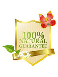 Natural guarantee label Royalty Free Stock Photo
