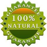 Natural guarantee label Royalty Free Stock Photo