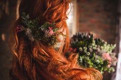 Natural hair decoration Royalty Free Stock Photo