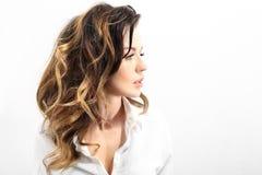 Natural hair Stock Photo